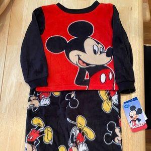 Mickey Mouse fleece, long sleeve & pants PJ set